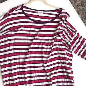 Pink Striped Irma Top